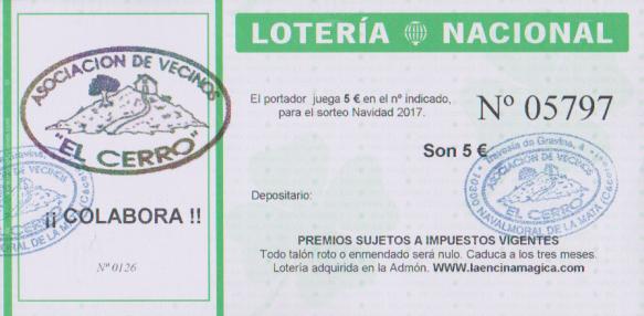 loteria el cerro 2017