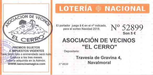 loteria el cerro 2018